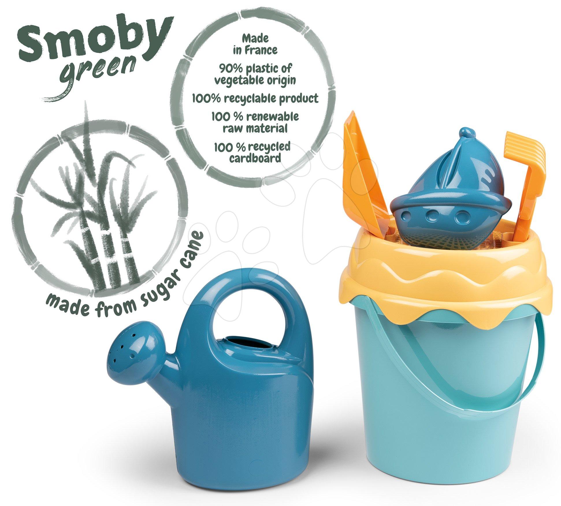 Vedro set z Cukrovej Trstiny BIO Green Smoby vegetable origin 100% recyklovateľné