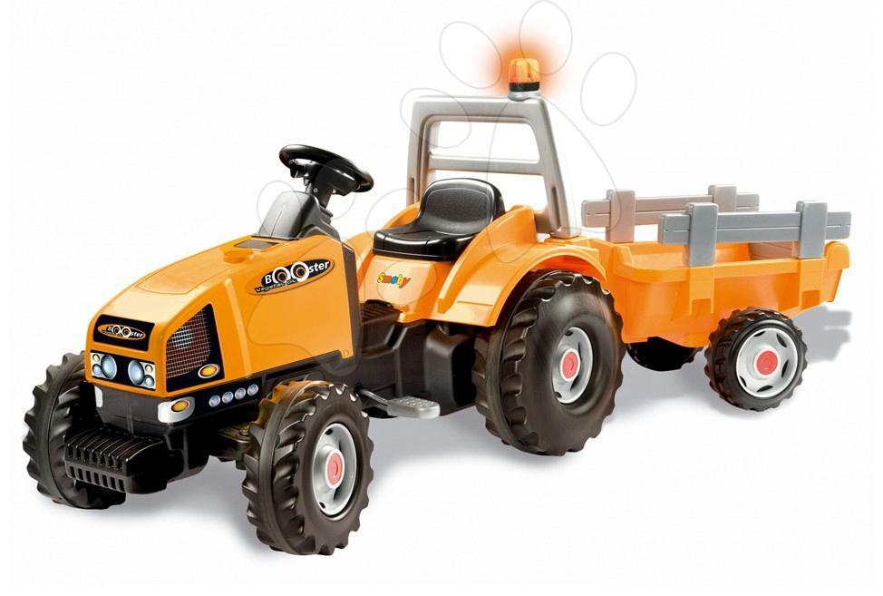 Traktor TGM Stronger na šlapání Smoby oranžový
