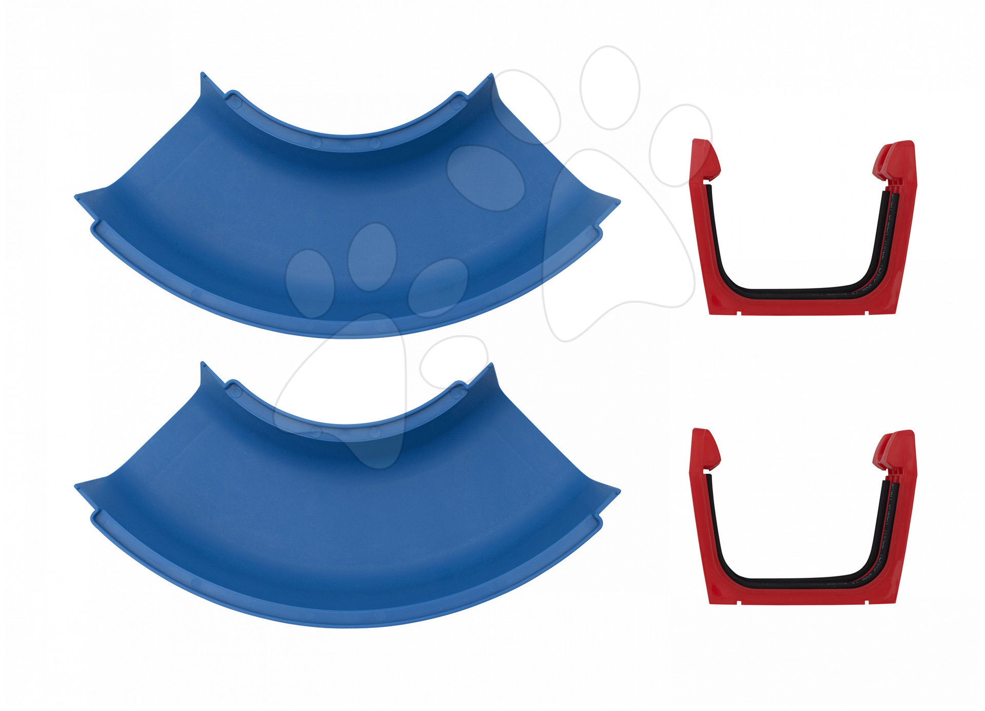 Doplnkové diely Aquaplay oblá časť k vodným dráham - set 2 kusov s tesnením
