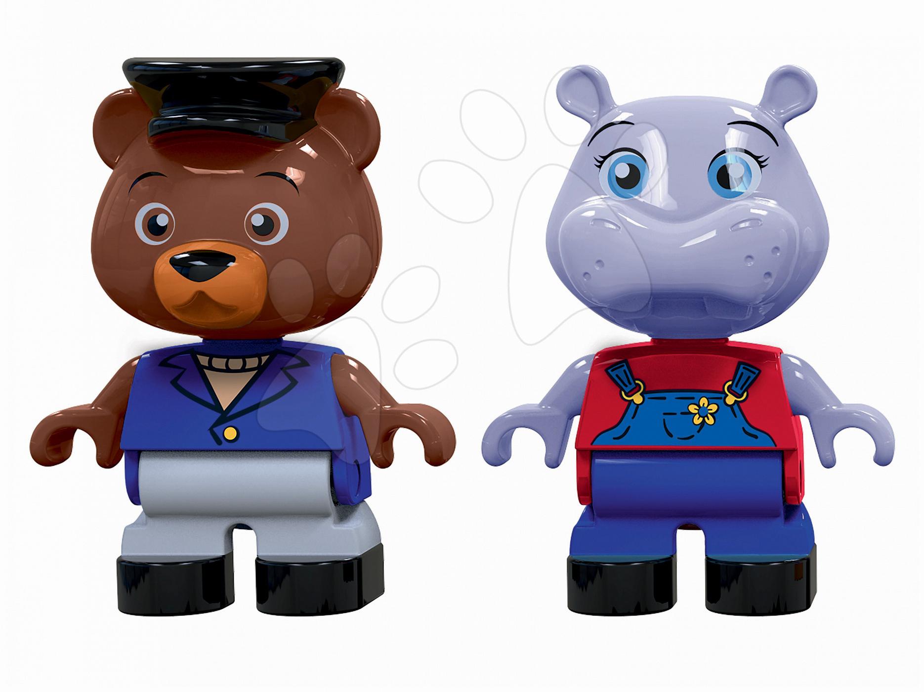 Figúrky Aquaplay hrošica Wilma a kapitán medveď Bo kompatibilné s Duplom 2 kusy