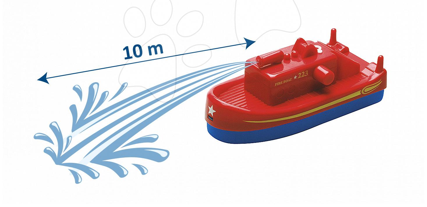 Loď AquaPlay Fireboat s vodním dělem s 10 metrovým dostřelem