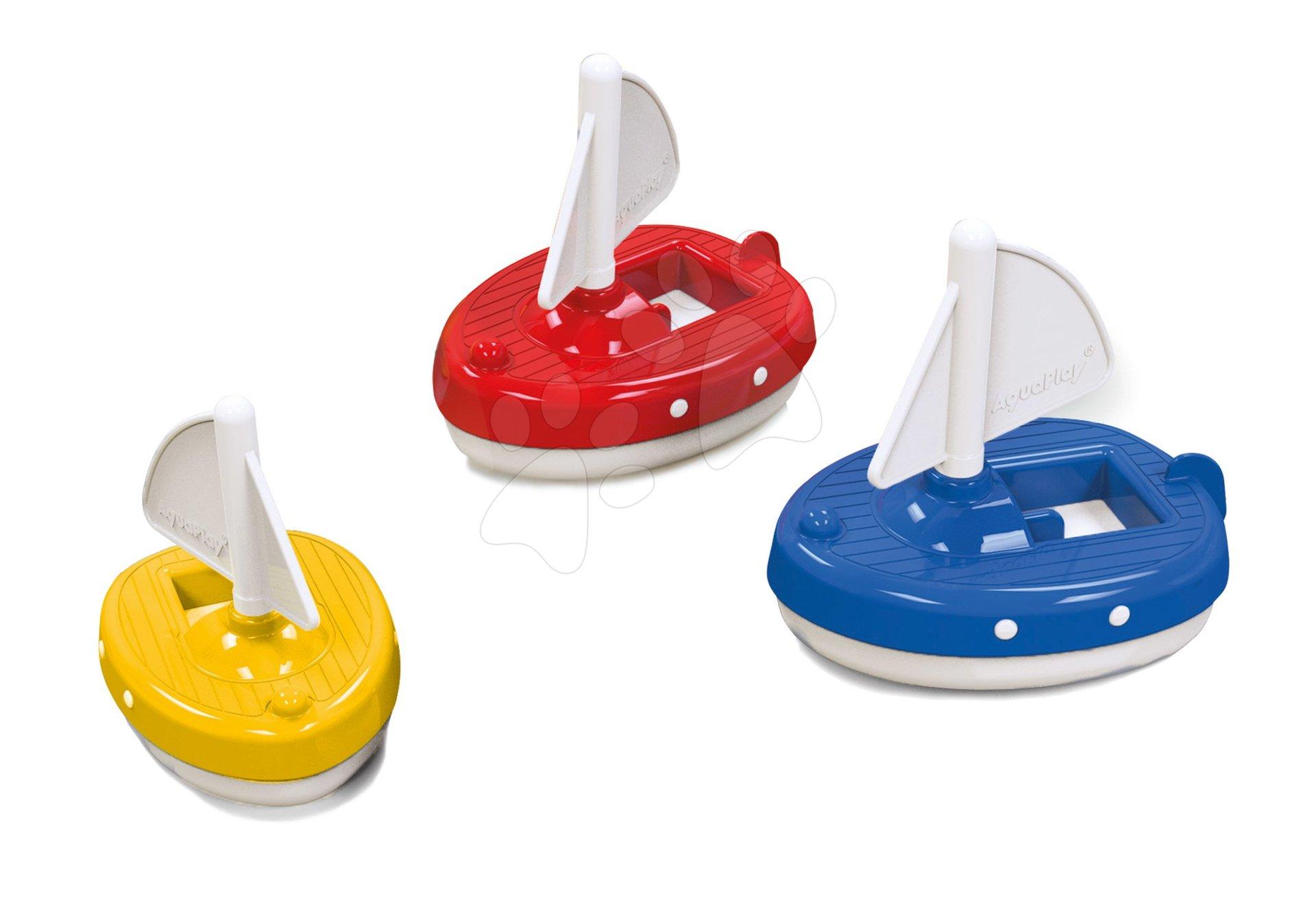 Plachetnica Aquaplay Regatta červená/modrá/žltá