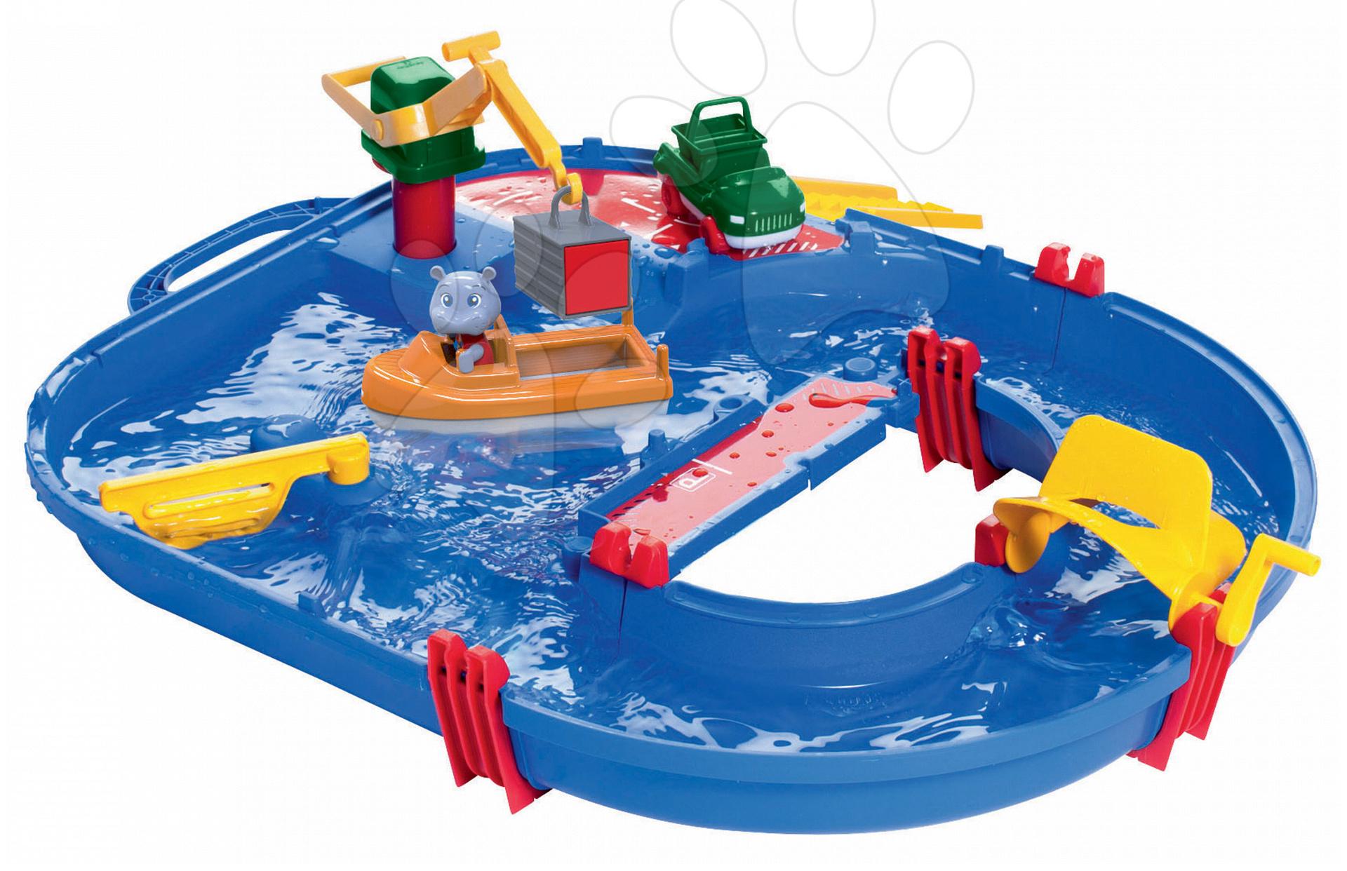 Vodná dráha Aquaplay Start Set s hrochom Wilmou a kontajnerovou loďou od 3 rokov