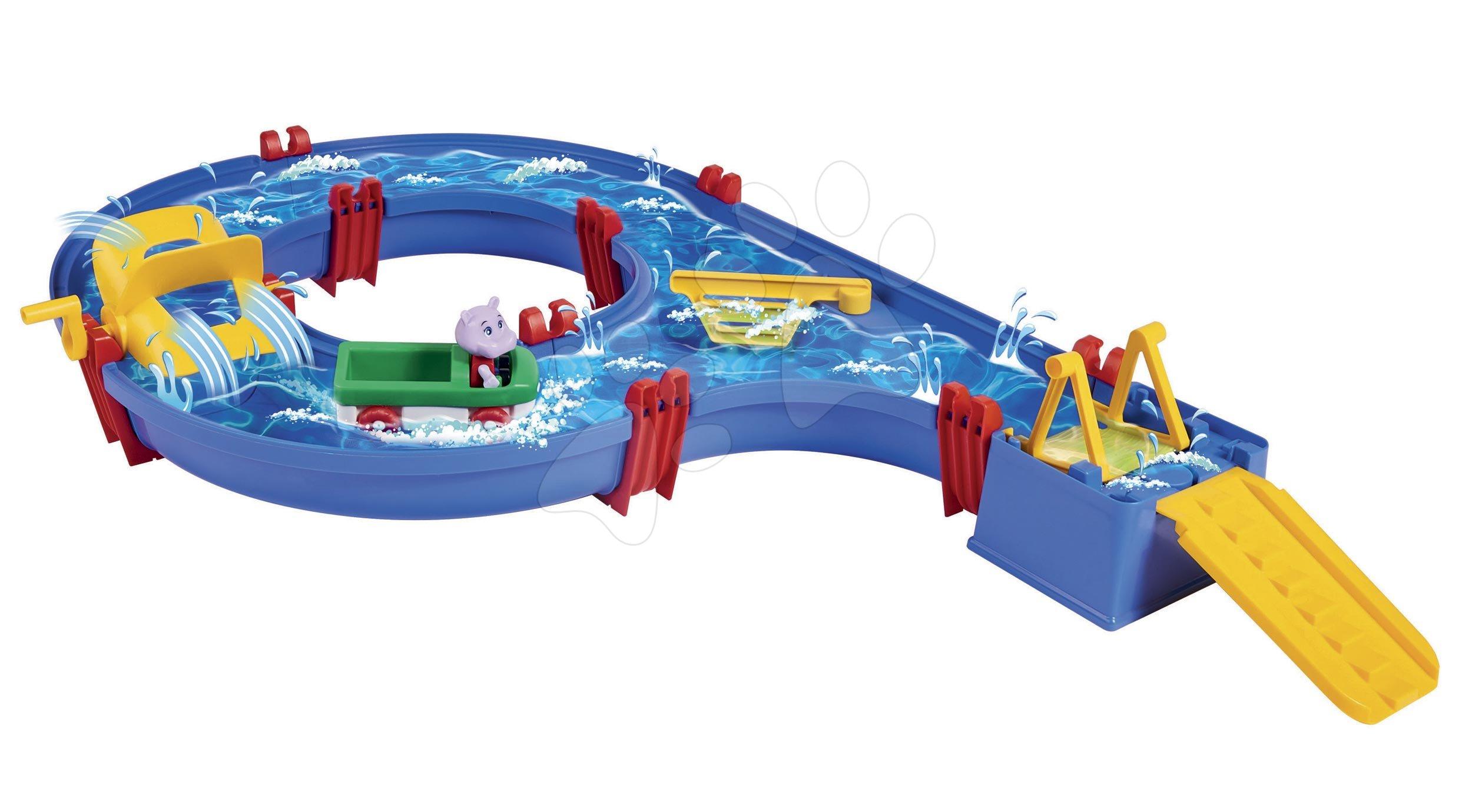 Vízi pálya AquaPlay Amphieset vízi turbinával és Wilma vízilóval a kétéltűn