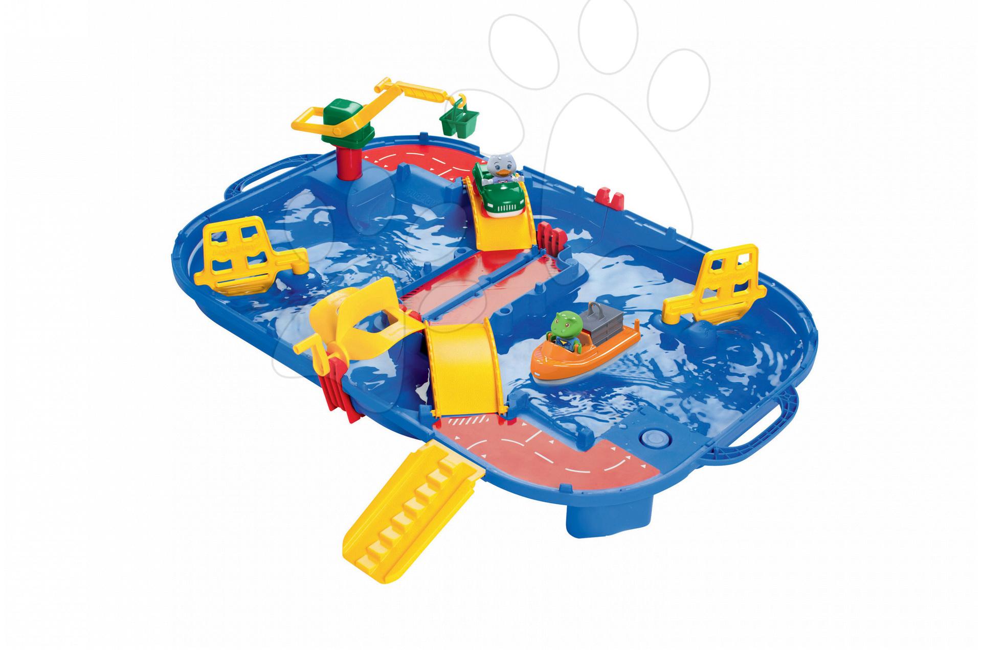 Vodní dráha AquaPlay AmphieBox v kufříku se žabákem Nilsem, kachničkou Lottou a lodí od 3 let