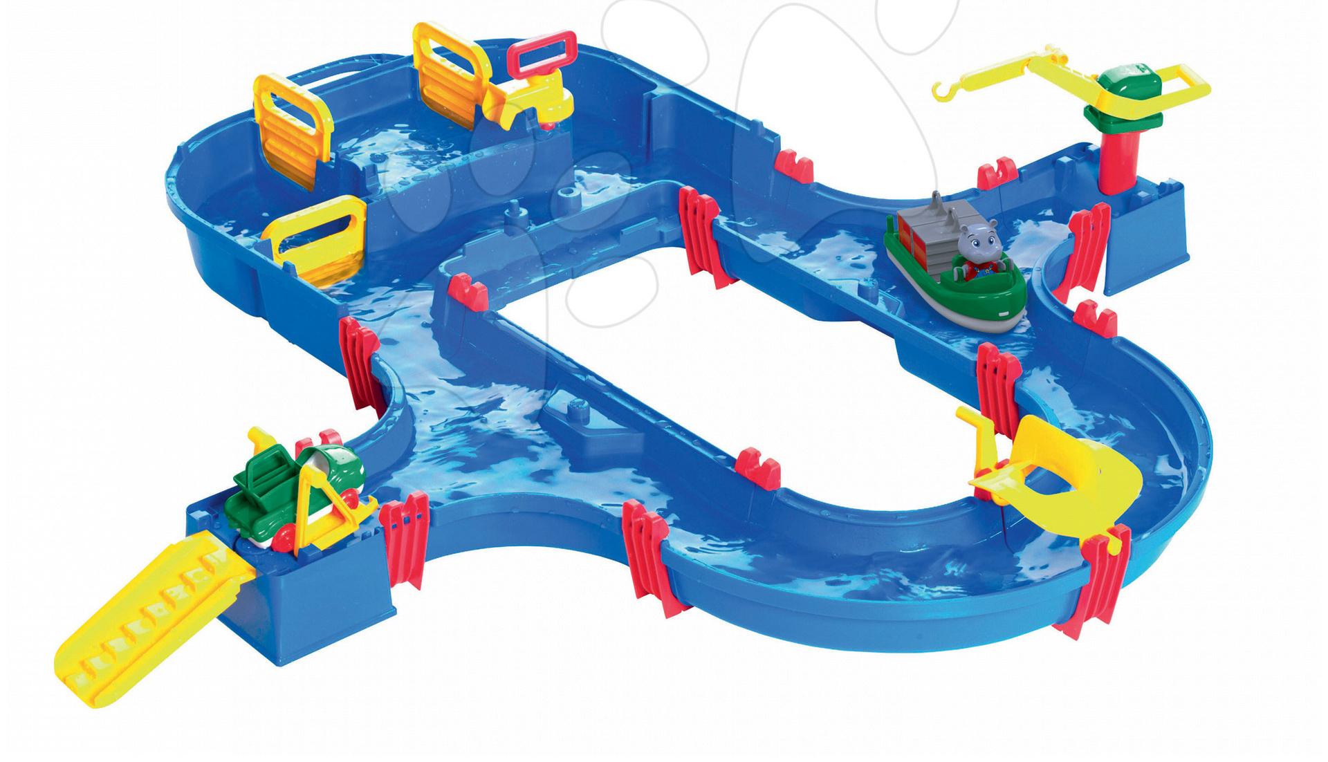 Vodná dráha Superset AquaPlay s hrošíkom Wilmou a priehradou s vodnou pumpou