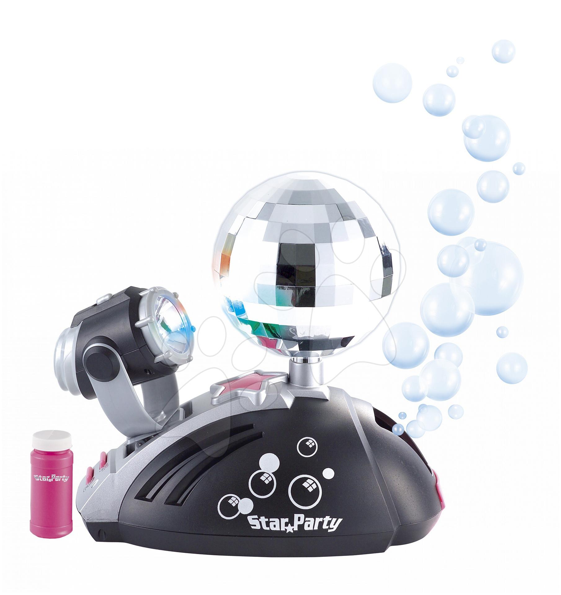 Instrumente muzicale de jucărie - Glob disco Starparty Bubble electronic Smoby cu aparat de făcut baloane