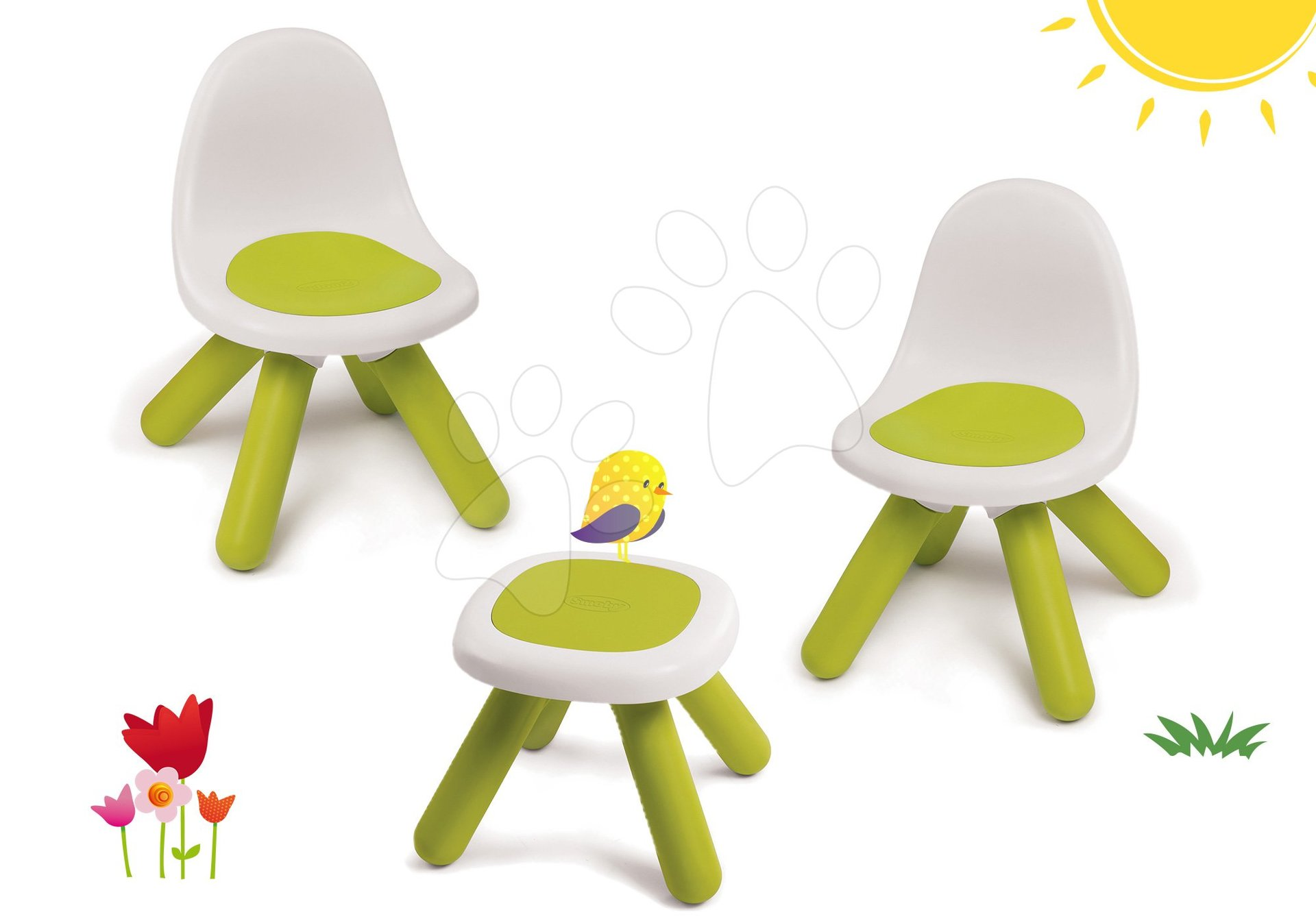 Smoby set stoličky pre deti KidChair a stolík zelený 880100-2