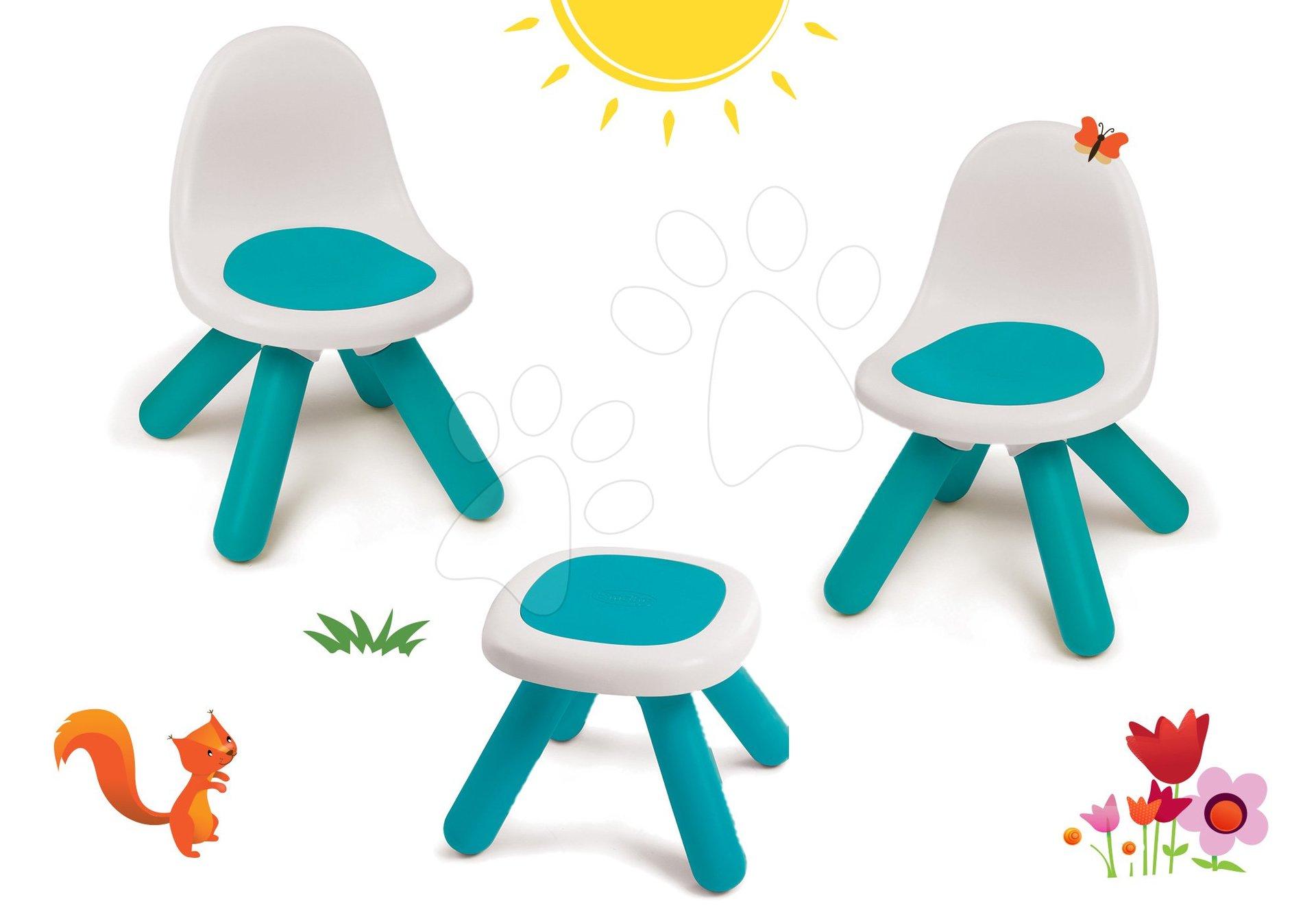 Smoby set stoličky pre deti KidChair a stolík modrý 880100-3