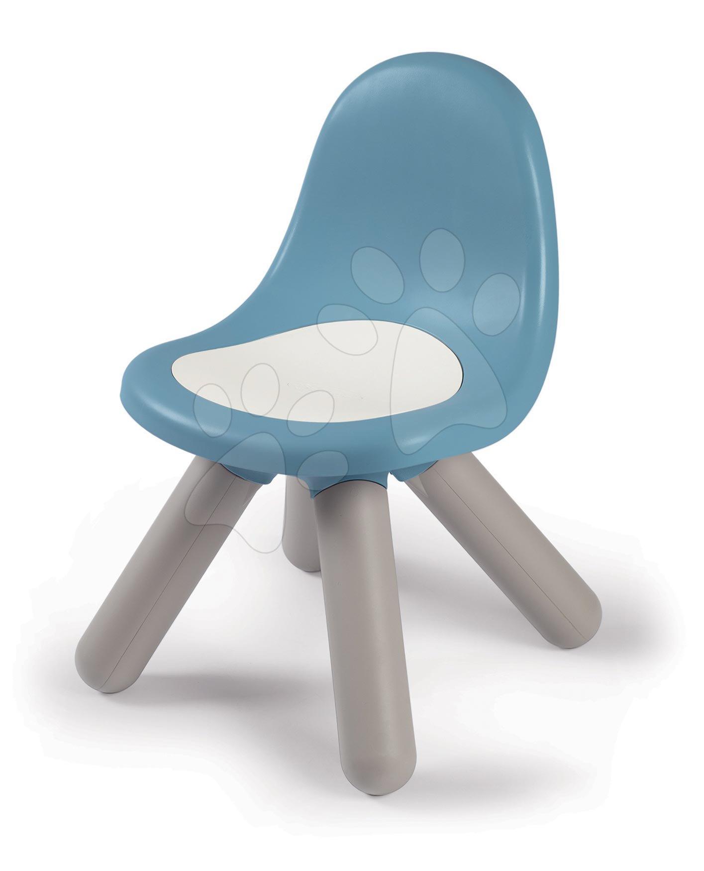Židle pro děti KidChair Storm Blue Smoby modrošedá s UV filtrem 50 kg nosnost výška sedadla 27 cm od 18 měsíců