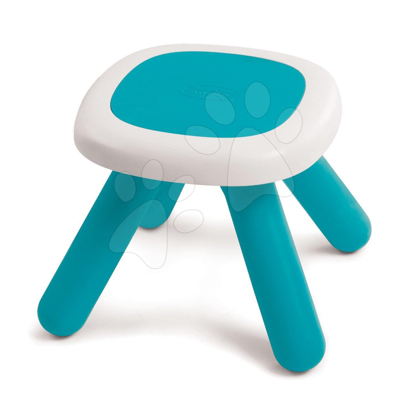 Taburetka pro děti KidStool Smoby 2v1 modrá s UV filtrem, nosnost 50 kg, výška 27 cm od 18 měsíců