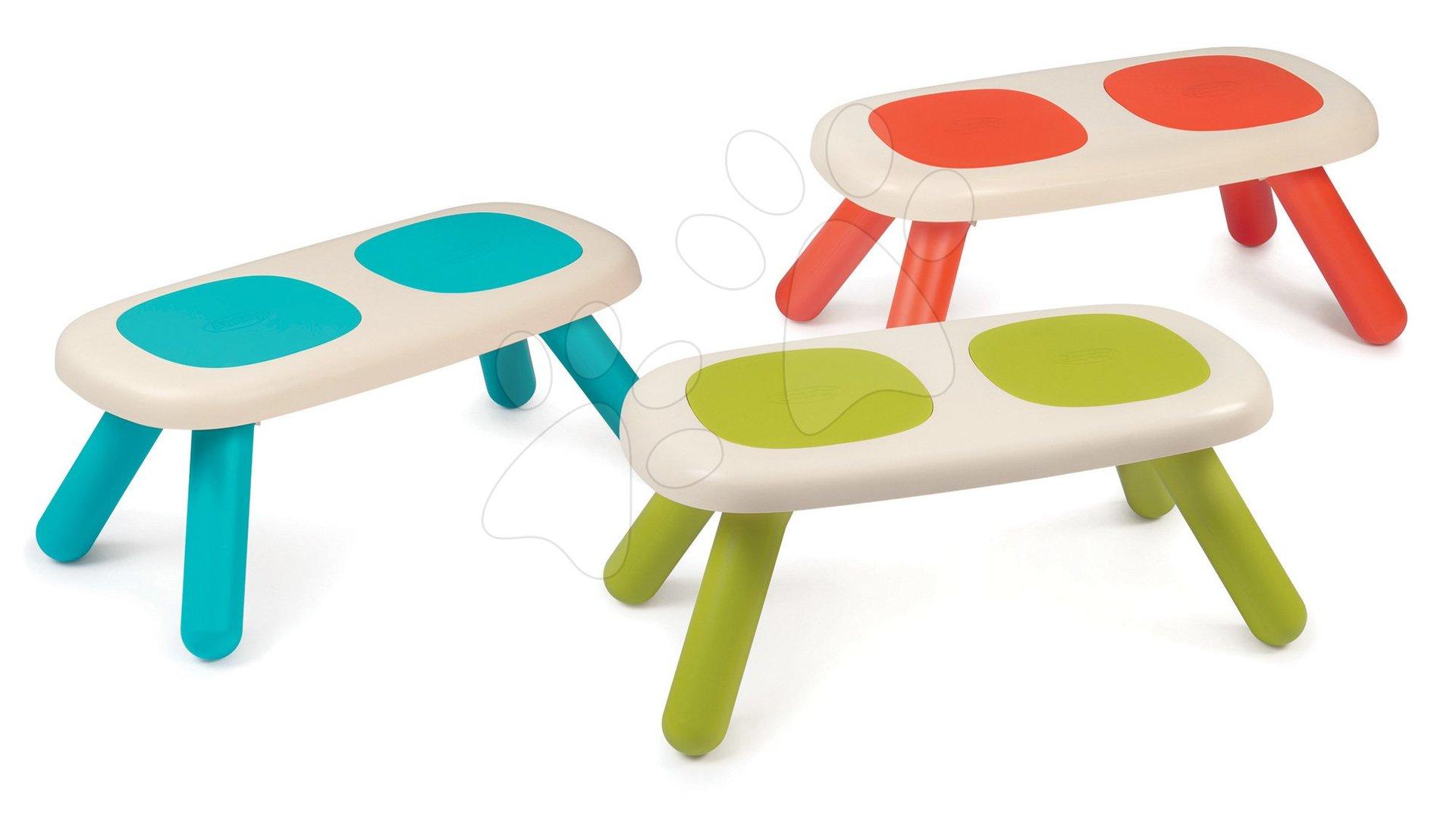 Lavice pro děti KidBench Smoby zelená/modrá/červená s UV filtrem od 18 měsíců