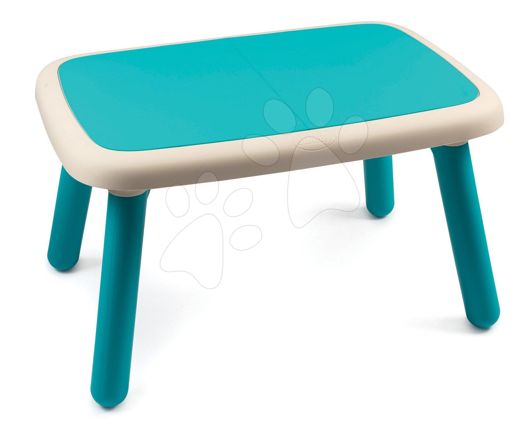 Asztalka gyerekeknek KidTable Smoby kék UV védelemmel 18 hó-tól