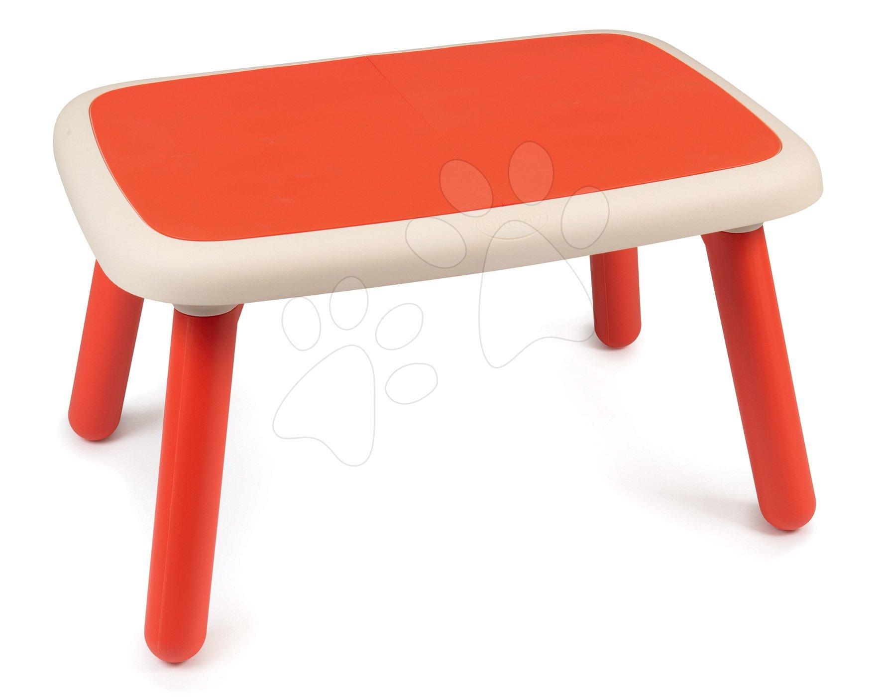 Smoby stôl pre deti KidTable červený s UV filtrom 880403