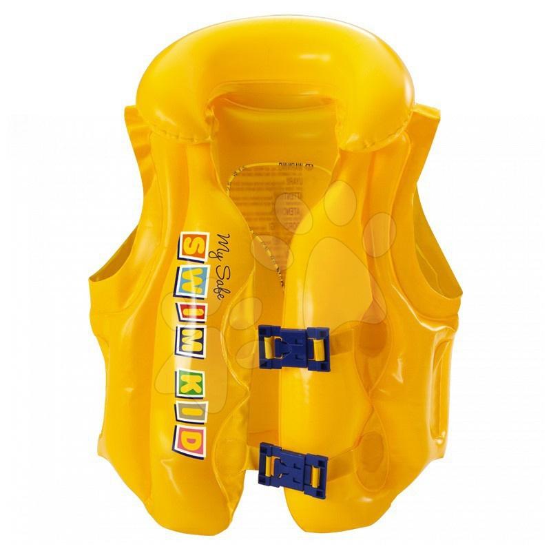 Bafukovacia plávacia vesta My Safe Baby Mondo žltá od 24 mes