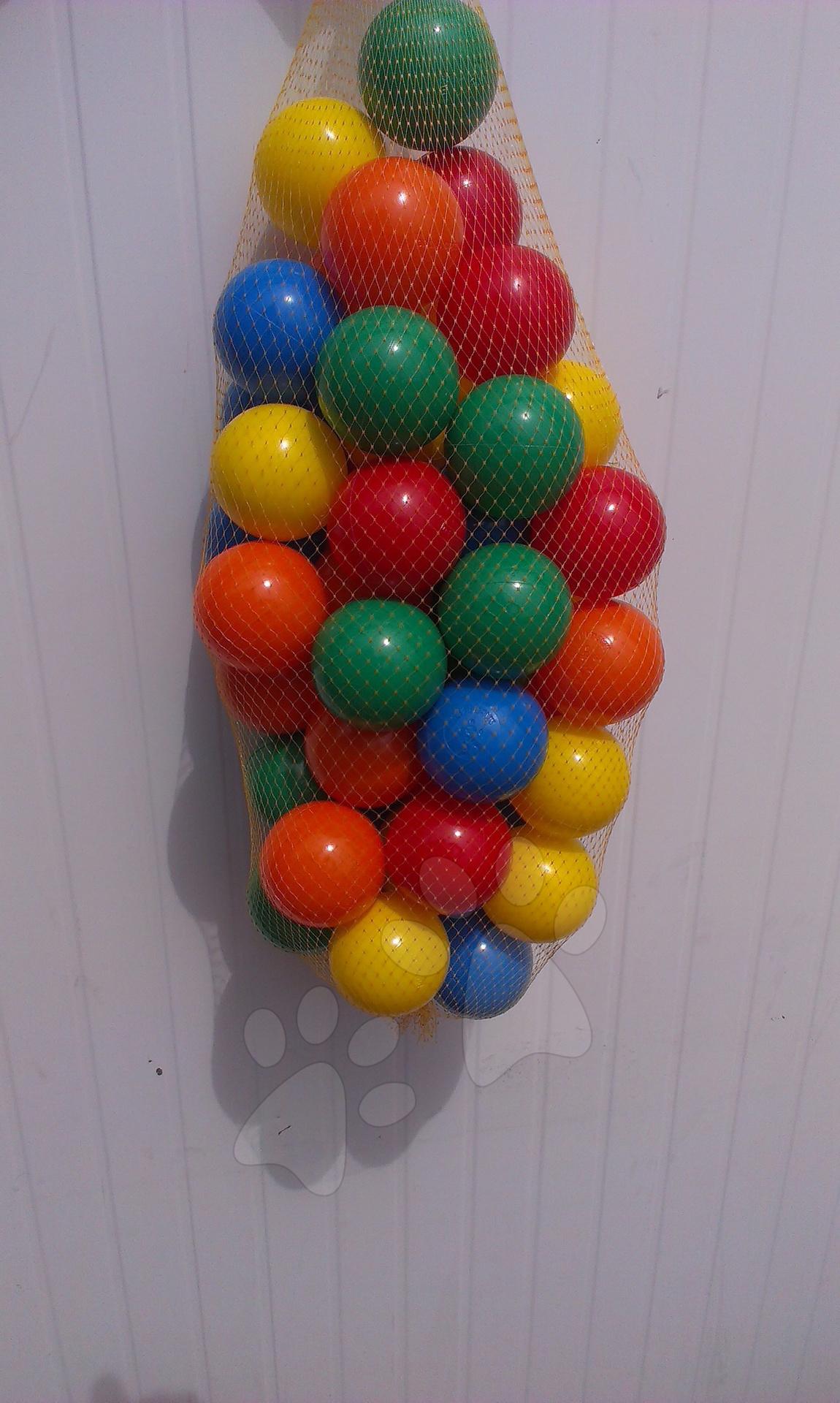 Plastové loptičky PB 6 cm farebné 50 ks