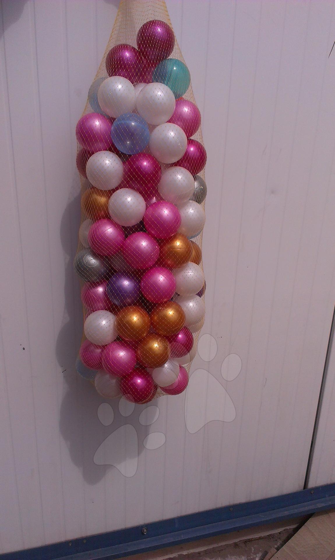 Perleťové plastové loptičky 7,5 cm 50 ks