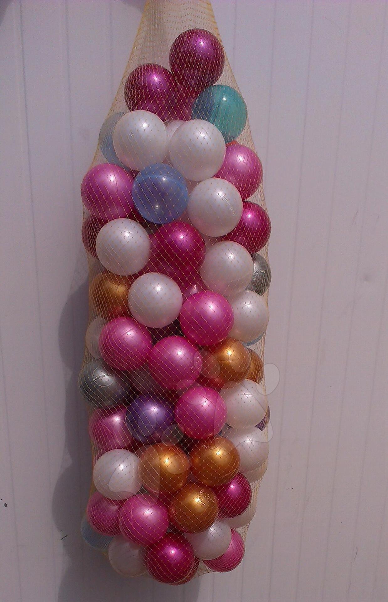 Plastové lopty - Perleťové plastové loptičky 7,5 cm 100 ks