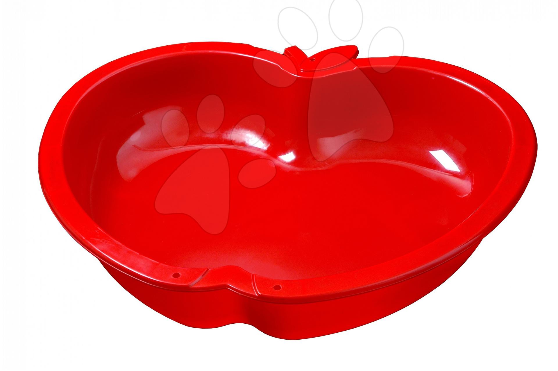 Pískoviště Jablko Starplast velké červené, objem 147 litrů od 24 měsíců