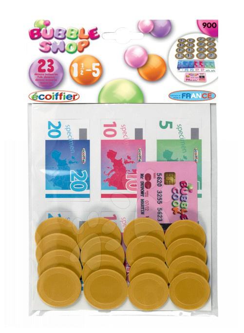 Obchody pro děti - Peníze a mince Bubble Shop Écoiffier 23 kusů od 18 měsíců