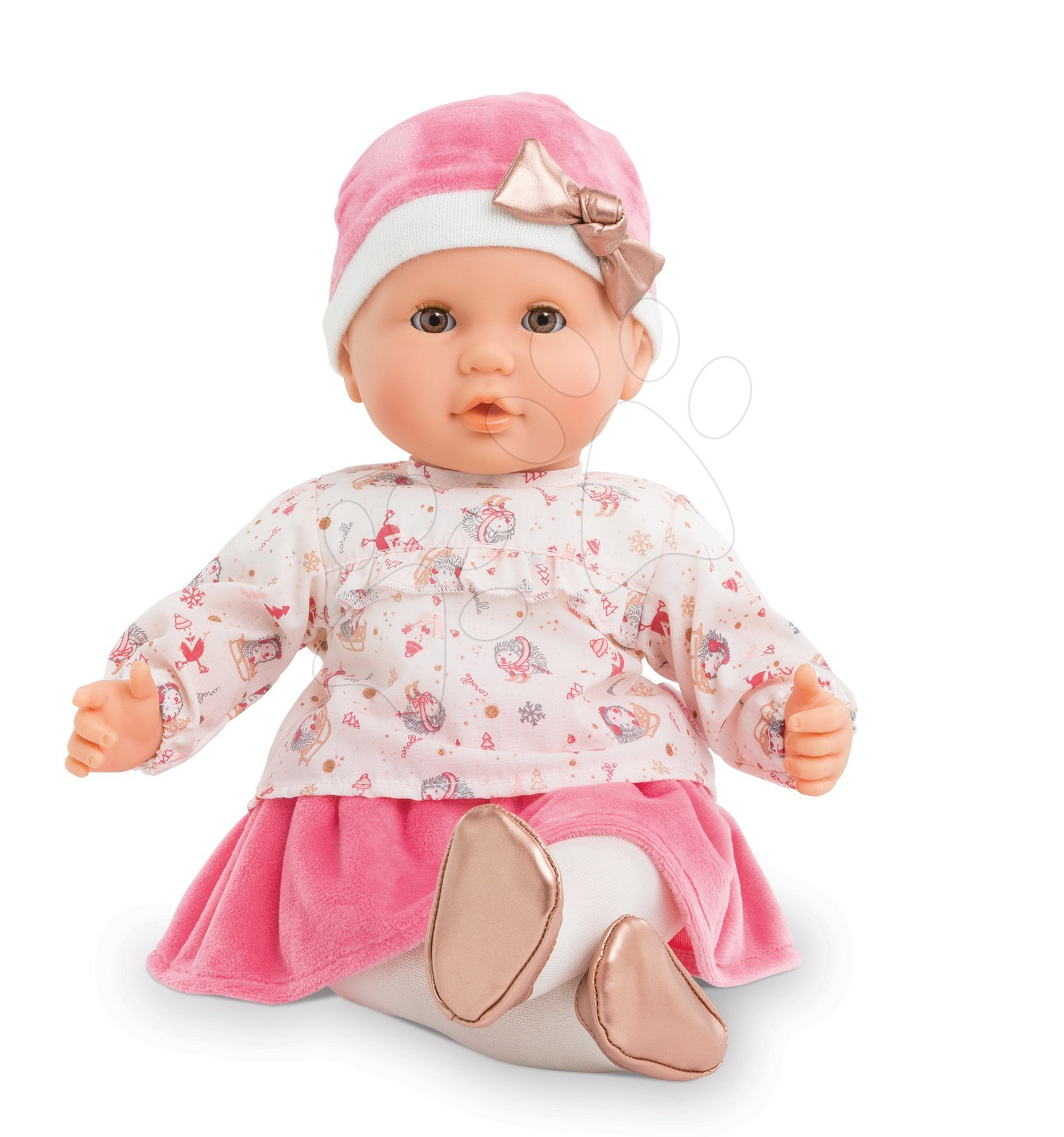 Játékbaba Lilly-Enchanted Winter Mon Grand Poupon Corolle 36 cm barna pislogó szemekkel 24 hó-tól