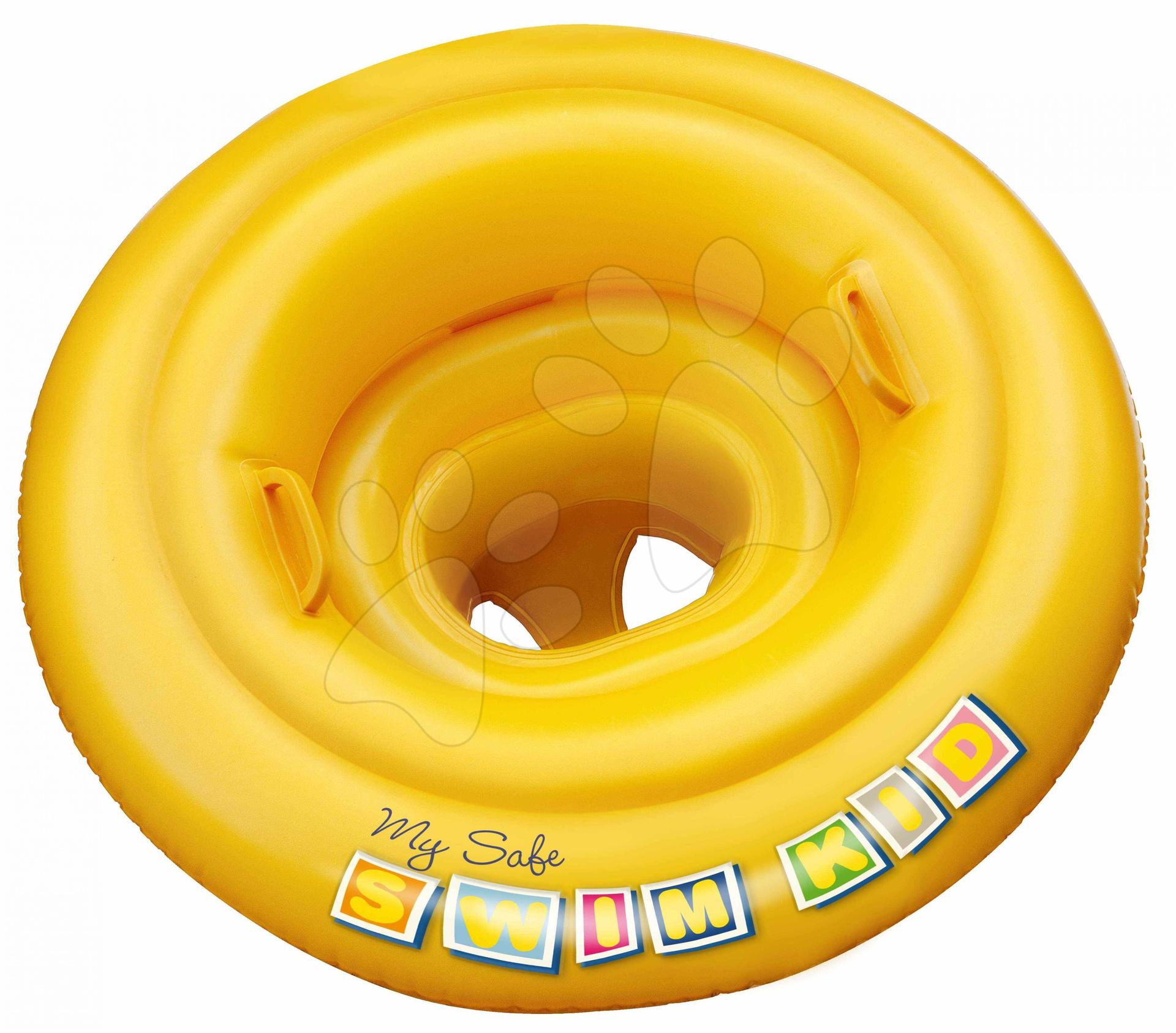 Nafukovací plavací kruh My Safe Baby Mondo žlutý