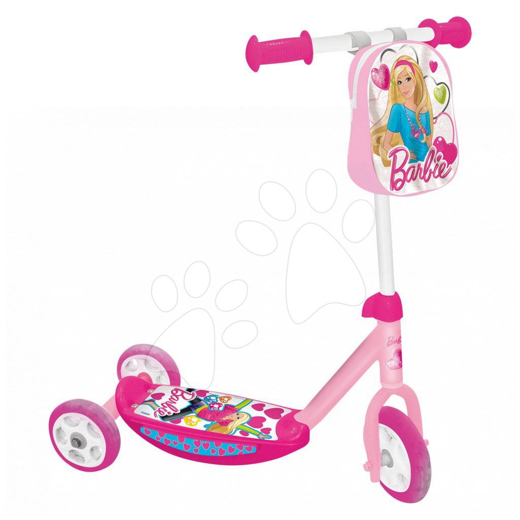 Koloběžka BARBIE Mondo tříkolová s taškou