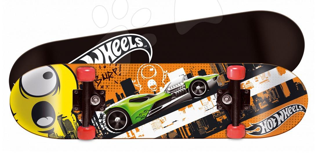 Skateboard Hot Wheels Mondo 80*20 cm, dvojstranná potlač, kolieska PVC, PP5