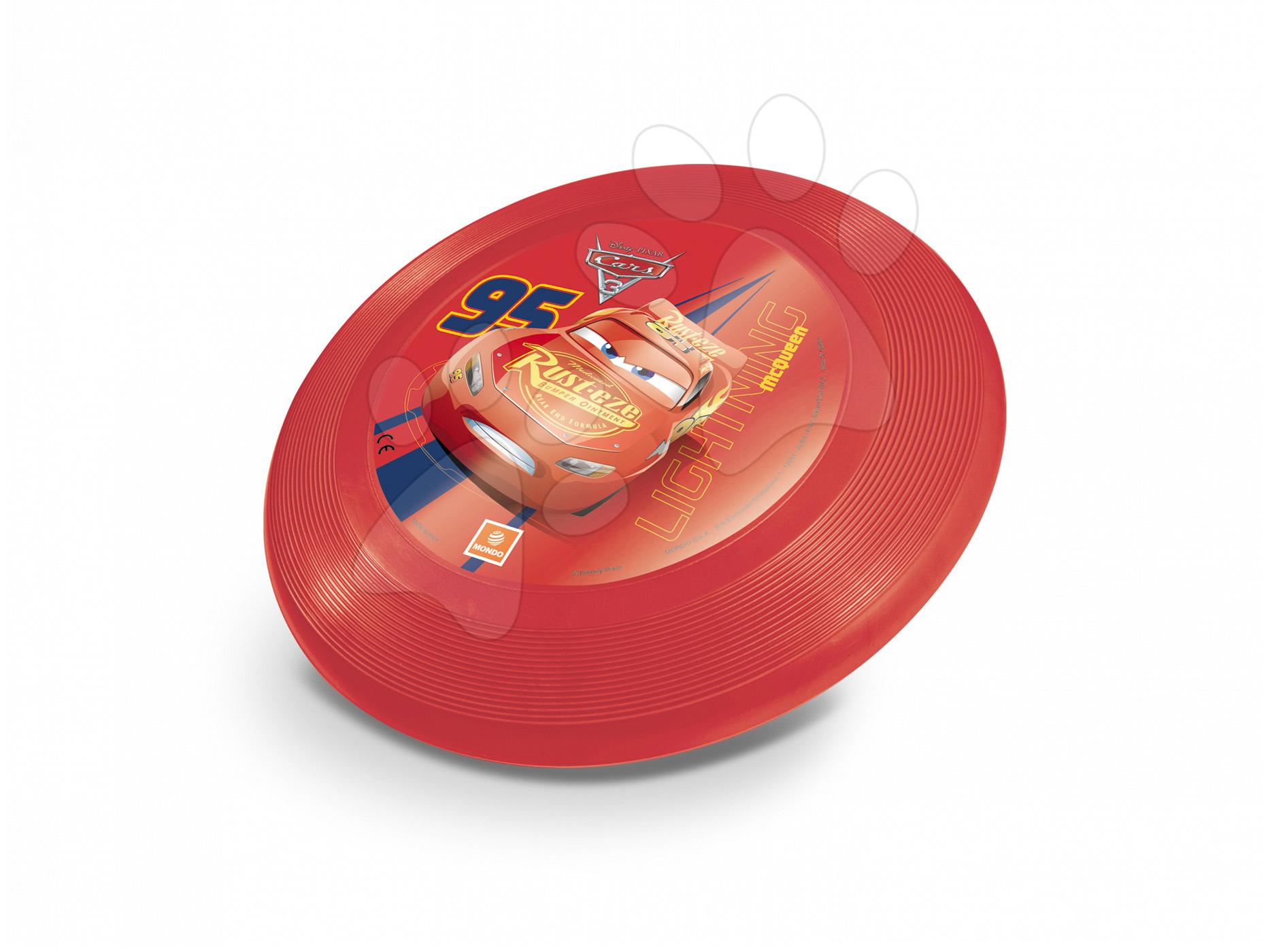 Létající talíř Auta 3 Mondo průměr 23 cm červený