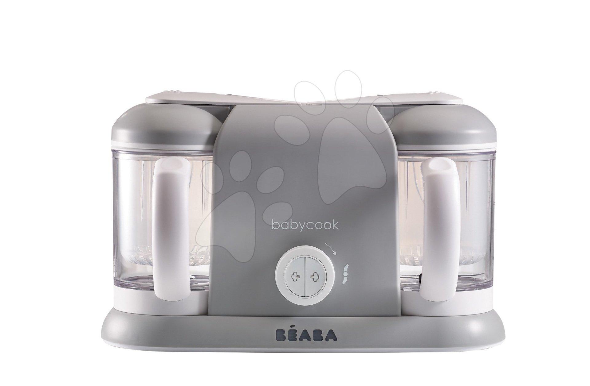 Parní vařič a mixér Beaba Babycook® Duo Plus šedý dvojitý od 0 měsíců
