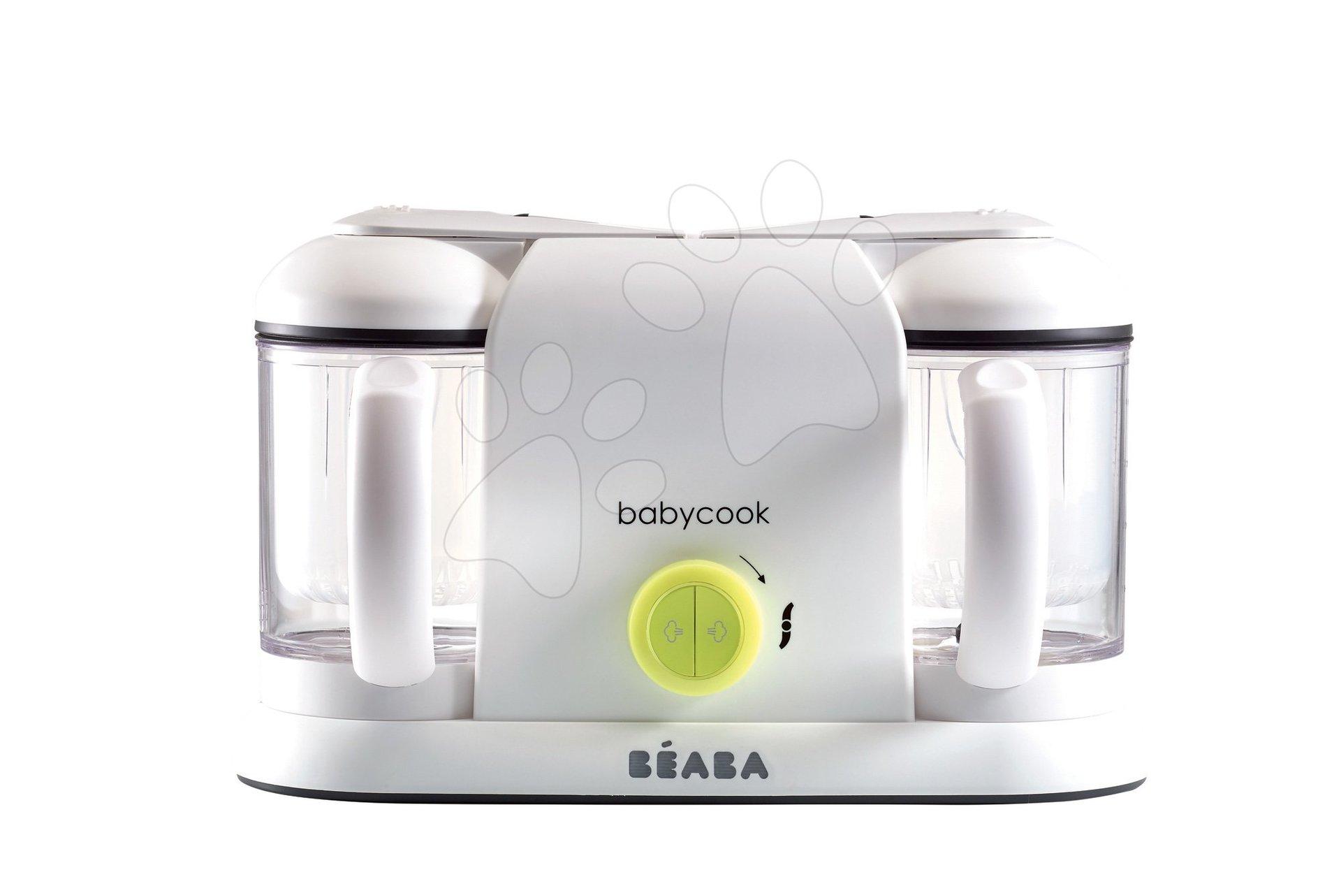 Parní hrnec s mixérem - Parní vařič a mixér Beaba Babycook® Duo Plus neon dvojitý od 0 měsíců