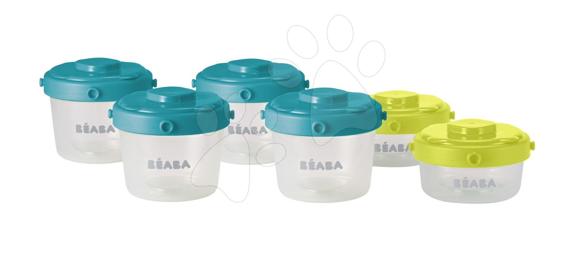 Beaba sada 6 dóz na jedlo 6 Clip 60 ml a 120 ml 912481