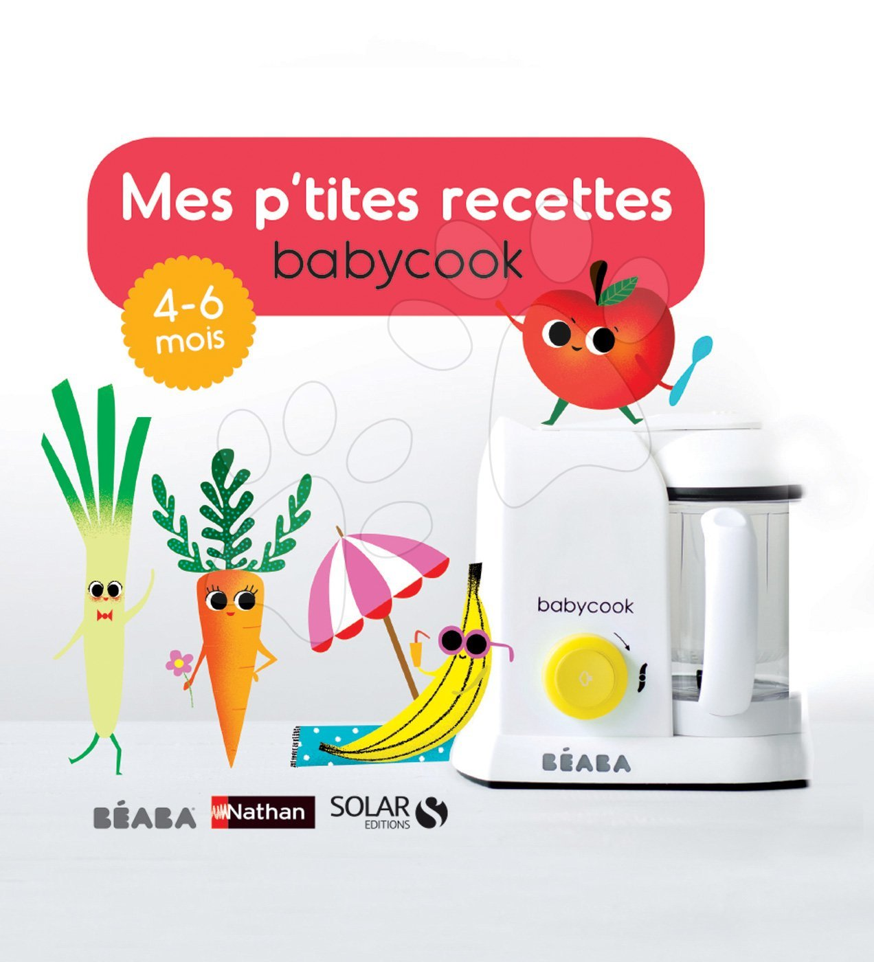 Kuchárska kniha Beaba ilustrovaná od 4-6 mesiacov francúzsky jazyk