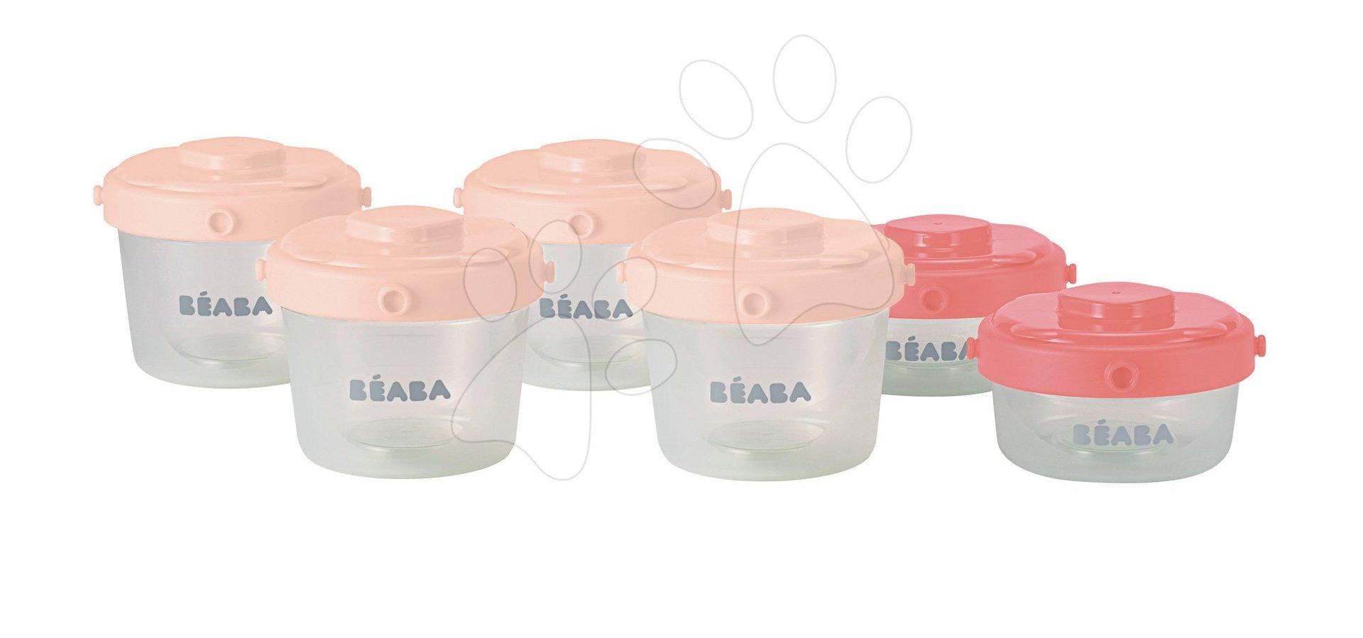 Beaba sada 6 dóz na jedlo Clip 1st age 912596 ružová