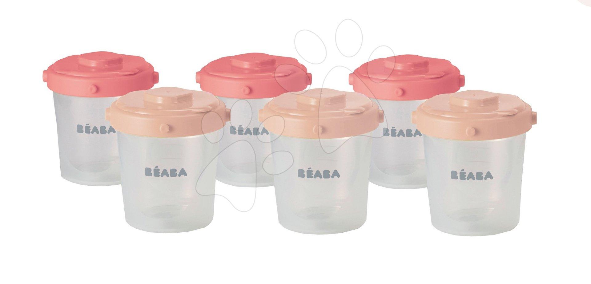Beaba sada 6 dóz na jedlo Clip 2nd age 912597 ružová