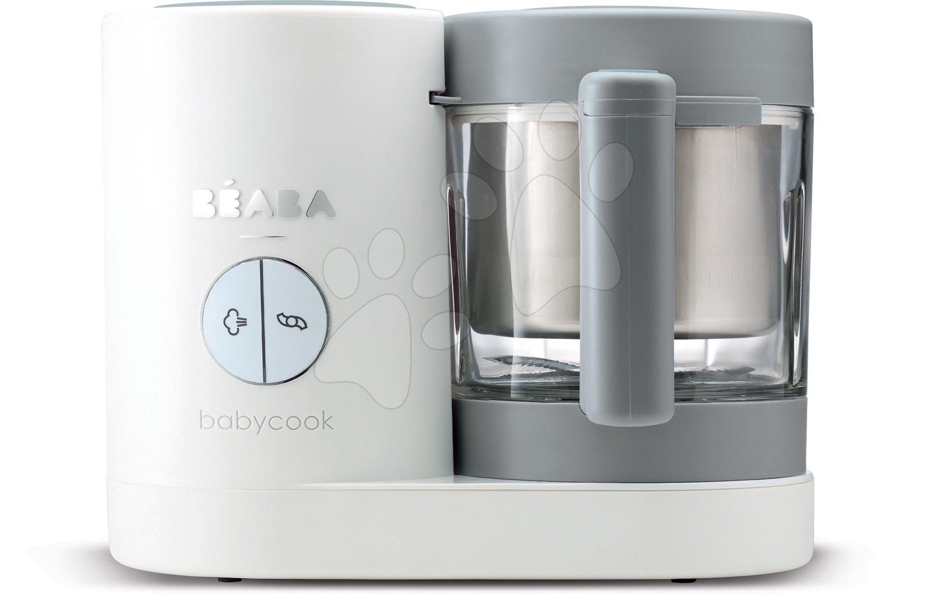 Parný varič a mixér Babycook® Neo Grey White Beaba šedo-strieborný od 0 mesiacov