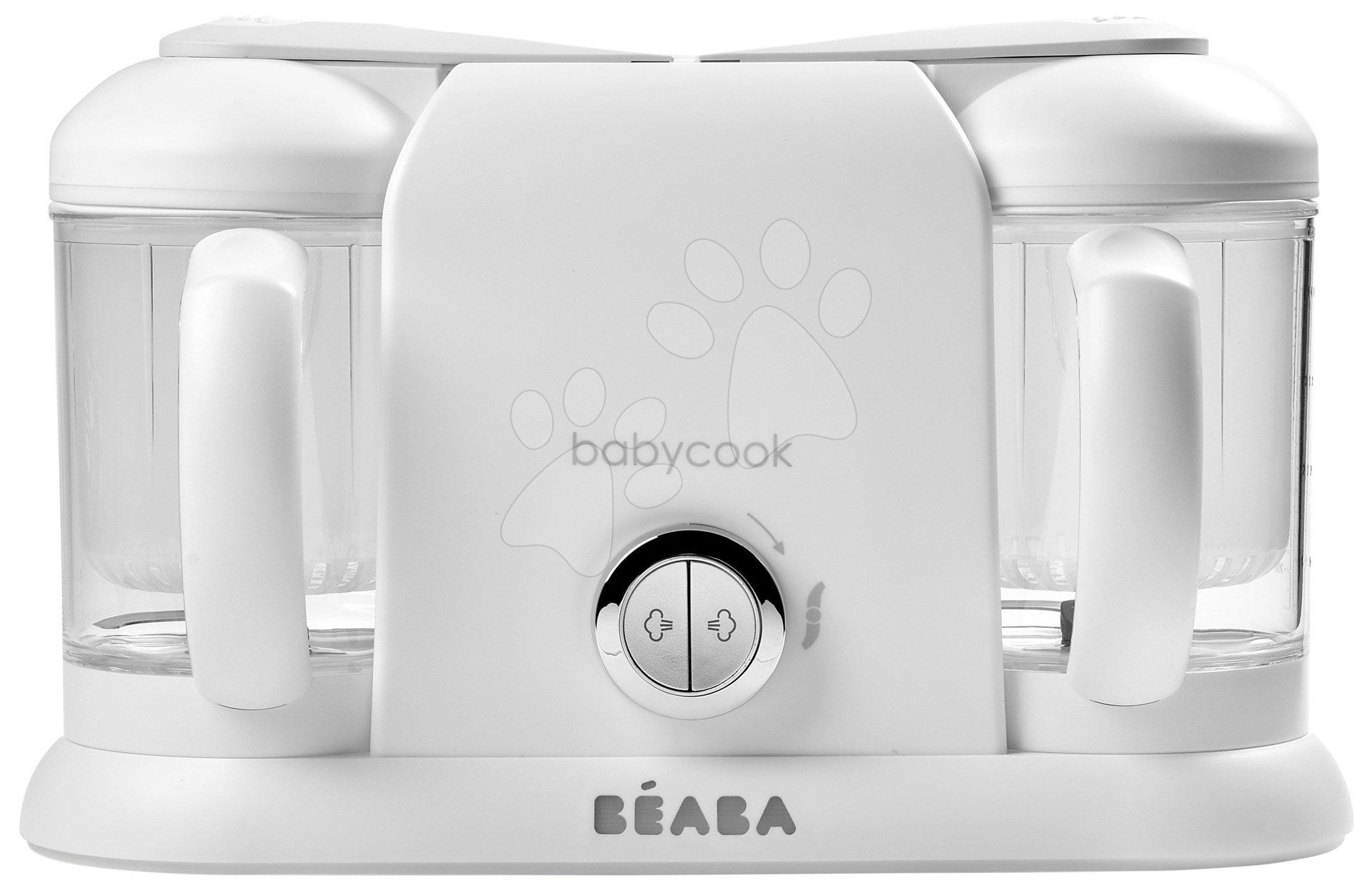 Ételpároló és turmixgép Beaba Babycook® Duo Plus White Silver dupla 0 hó-tól