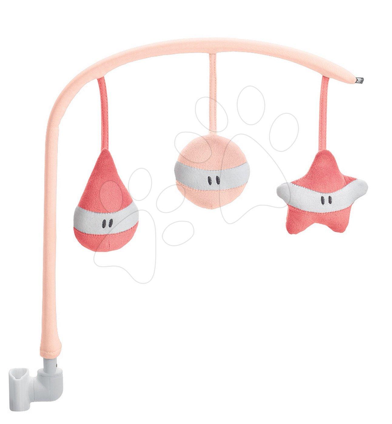 Kolotoč nad dětské lehátko Beaba růžový od 0 měs