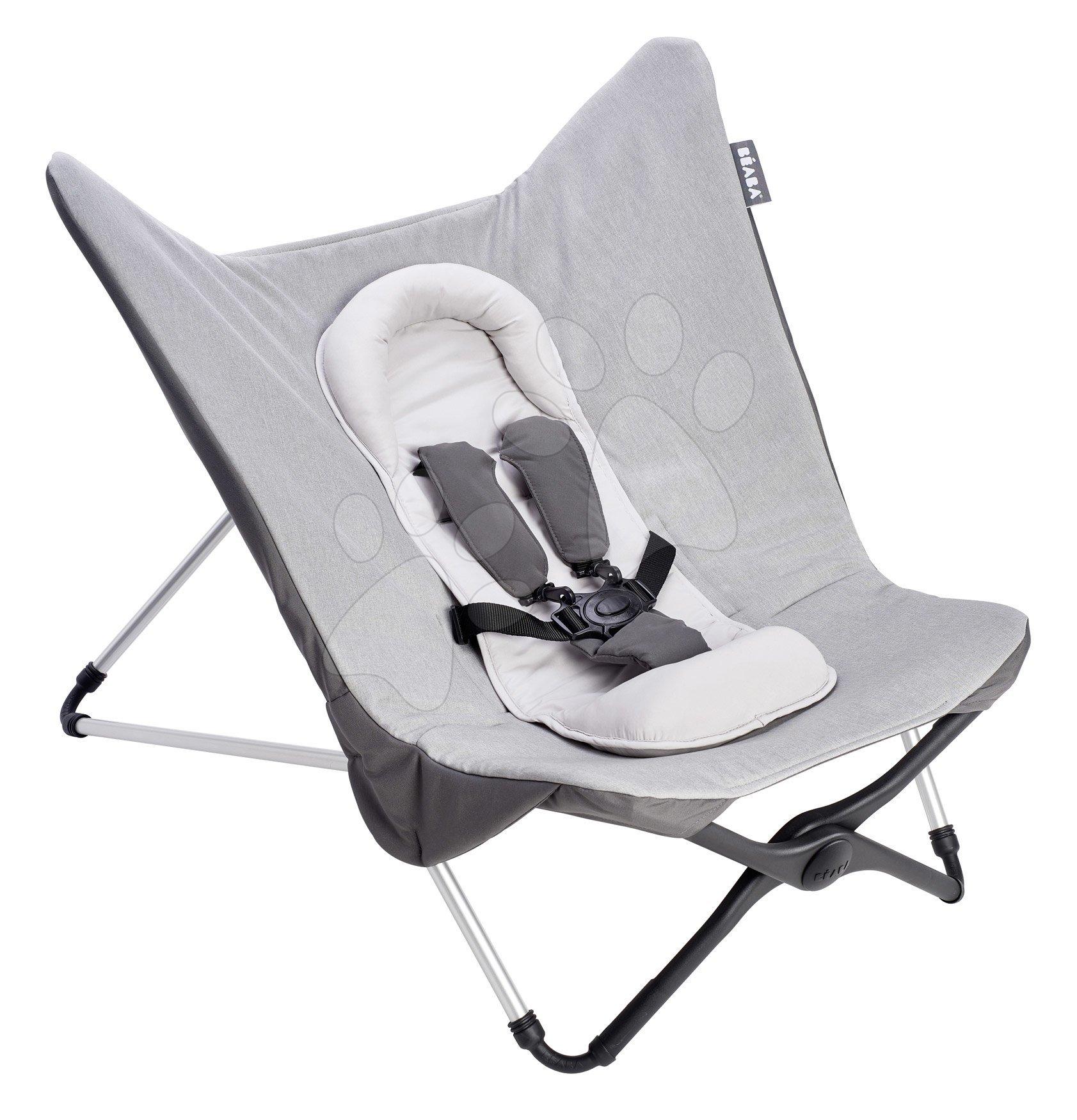 Dojčenské lehátko Evolutive Compact Baby Seat II Beaba Heather Grey šedé skladacie od 0 mes