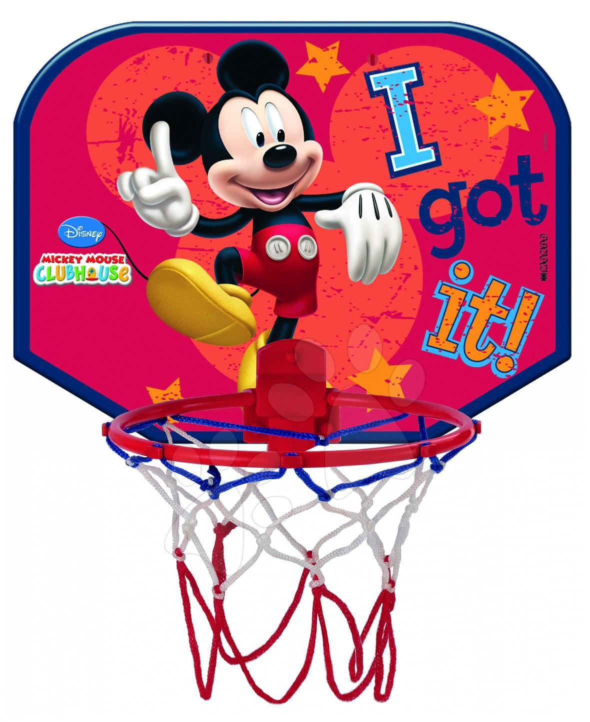 Basketbal na stěnu Mickey Mondo s basketbalovým míčem