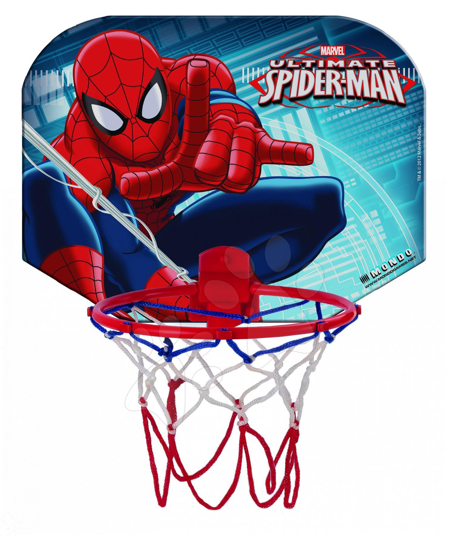 Basketbalový koš Spiderman Mondo na stěnu s míčem od 6 let