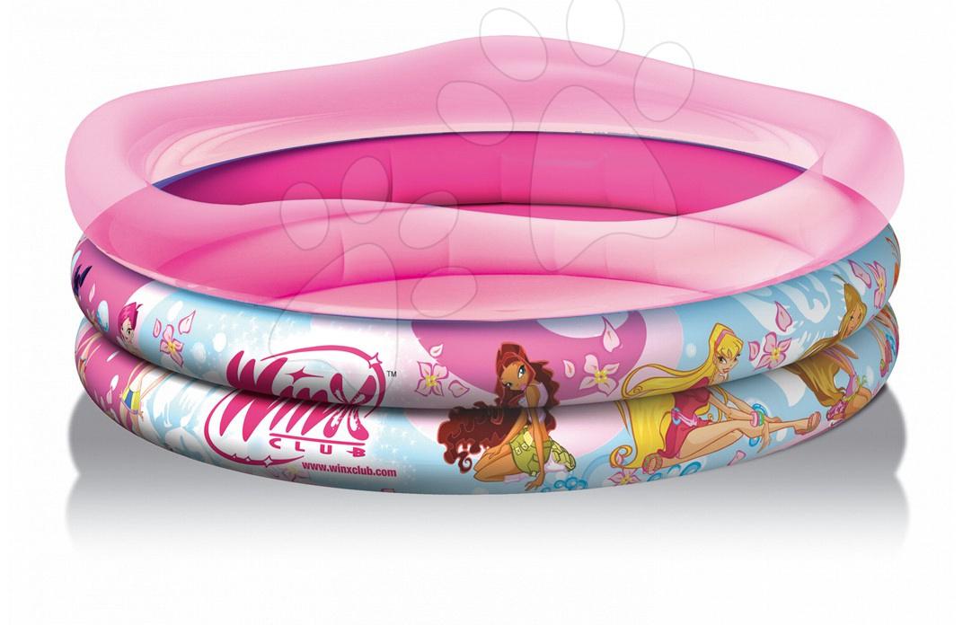 Dětské bazénky - Nafukovací bazén Winx Smoby tříkomorový 140 cm od 10 měsíců