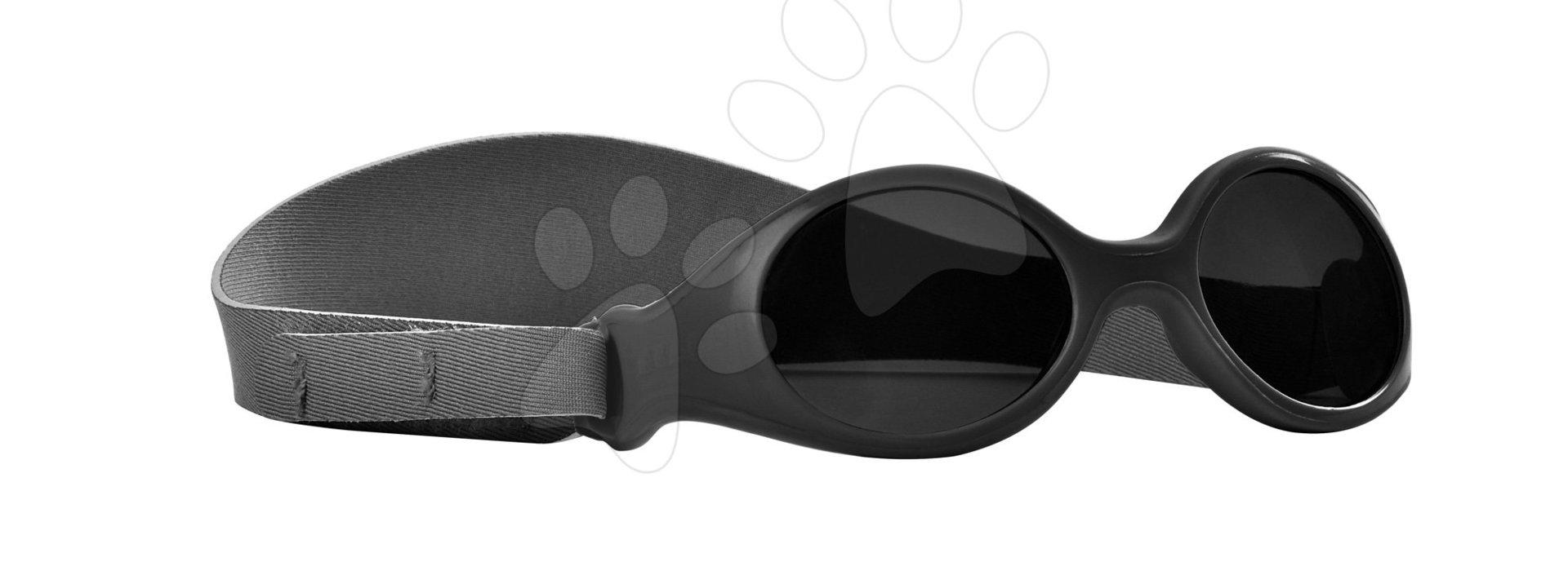 Slnečné okuliare pre novorodencov Beaba Clip strap XS od 3 mesiacov s UV filtrom 4 čierne