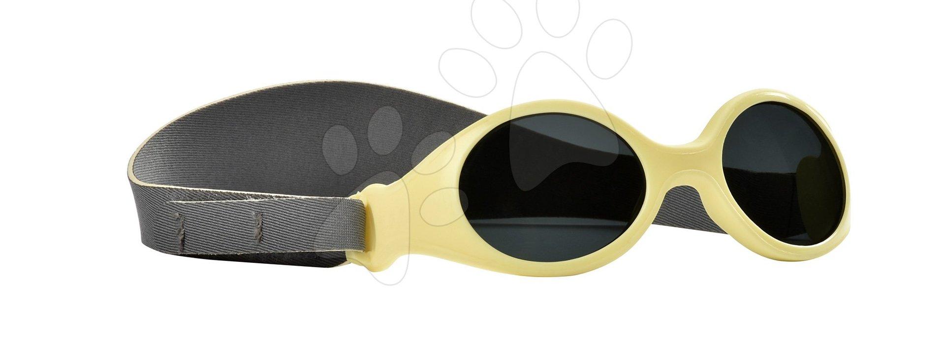 Sluneční brýle pro novorozence Beaba Clip strap XS od 3 měsíců s UV filtrem 4 žluté