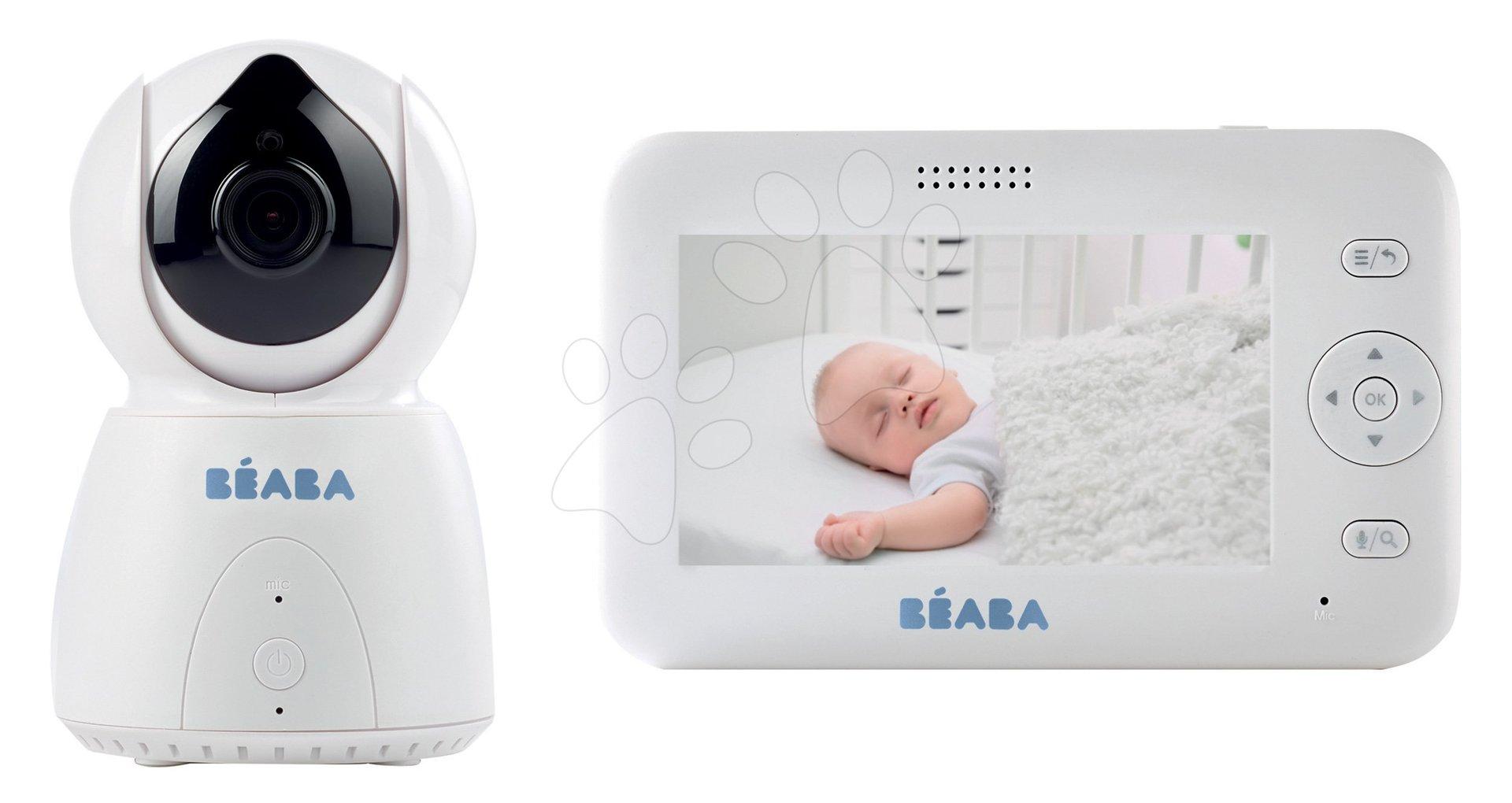 Elektronická opatrovateľka Zen + Video Baby Beaba s panoramatickým a infračerveným nočným videním od 0 mesiacov