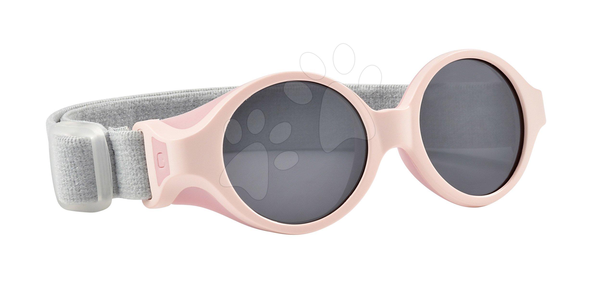 Sluneční brýle pro novorozence Beaba Clip strap Chalk Pink UV4 od 0-9 měsíců růžové