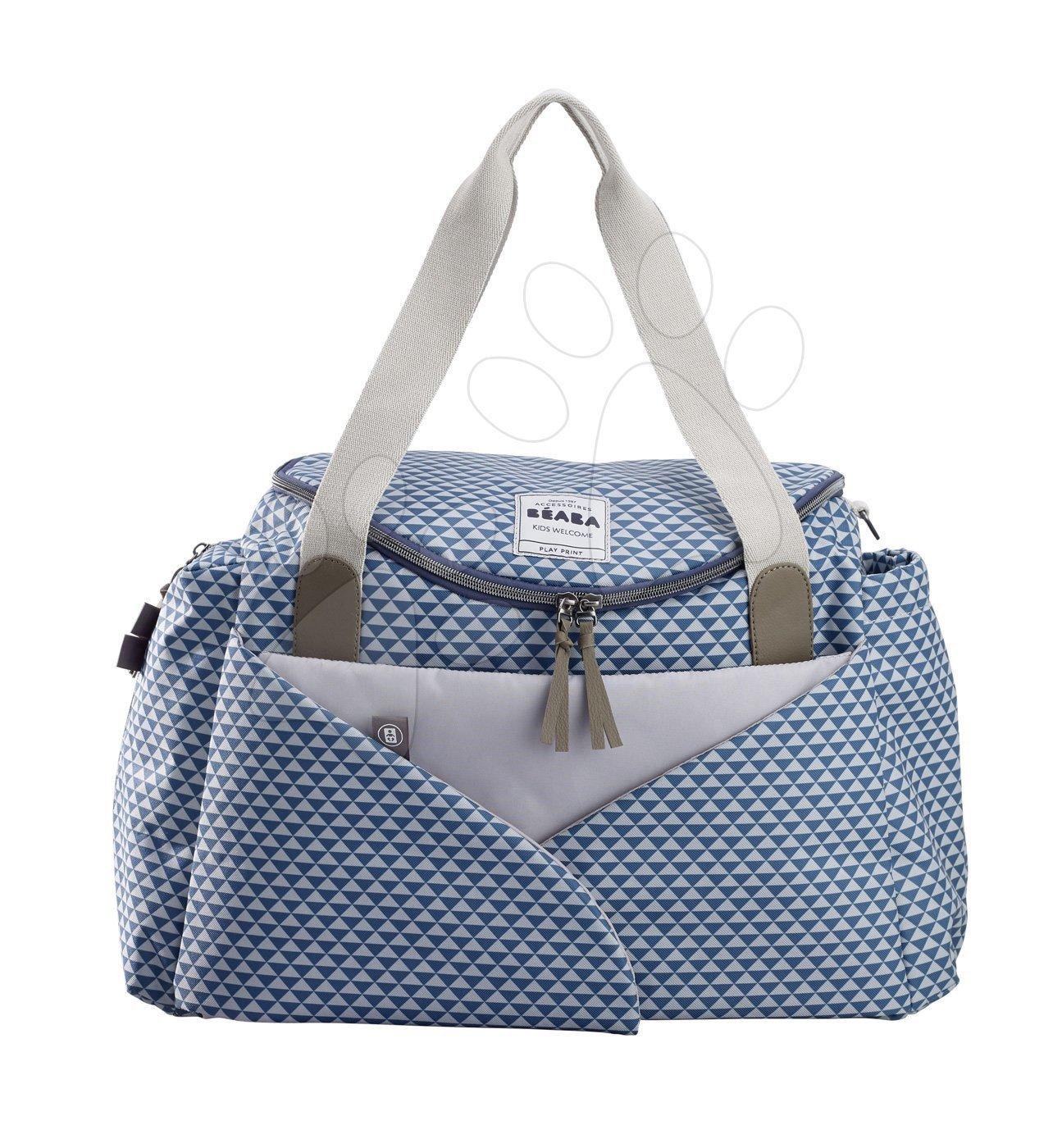 Previjalna torba za vozičke Beaba Sydney II kocke modra