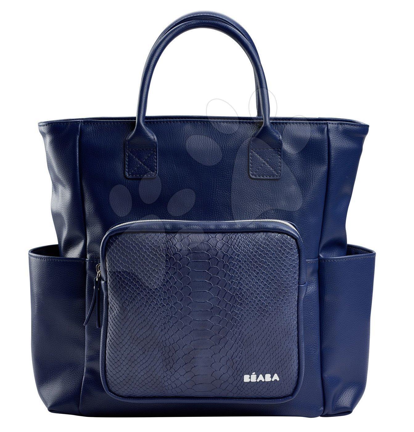 Previjalna torba za vozičke Kyoto Beaba modra s kačjim vzorcem
