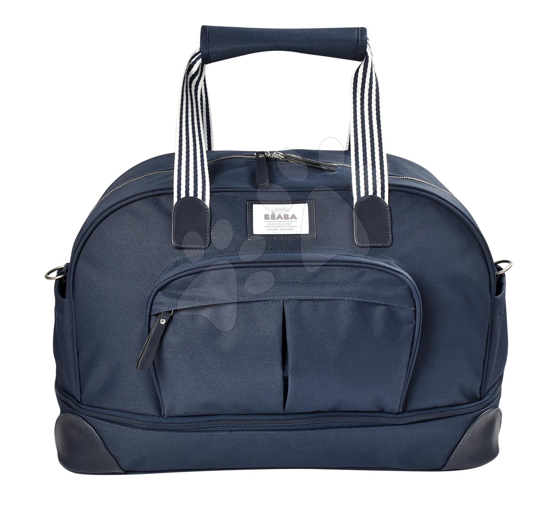 Přebalovací taška ke kočárku Beaba Amsterdam II Expandable Blue Marine modrá 2 velikosti