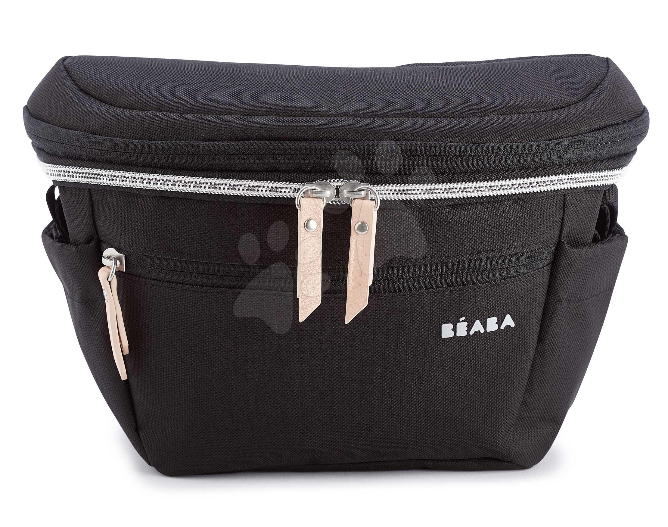 Prebaľovacia taška ako opasok Biarritz Changing Black Bag Beaba ľadvinka na kočík a bicykel 3-11 litrov objem